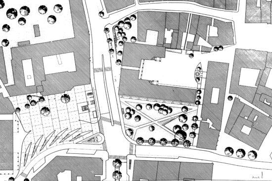 Plan Heiligergeistplatz Klagefnurt. Sonja Gasparin und Beny Meier