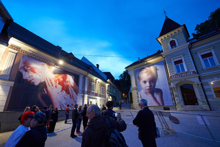 Helnwein Gottfried - Fassadenaktion 2017, Bleiburg- Foto Tomo Jesenicnik