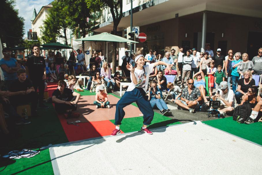Kulturwochenende Ins Freie 2018, Path to Flow Breakdance Battle, Foto: Melanie Koeck