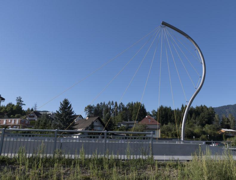 Adlerfang, Armin Guerino, 2019. Objekt an der Seebachbrücke, Villach