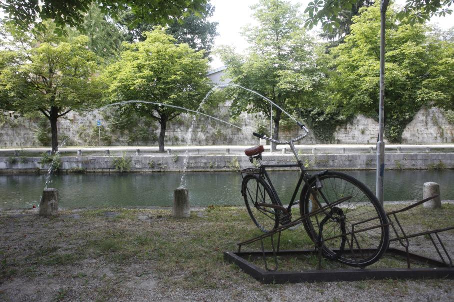 Brad Downey, Fountain, Kunstinstallation für lendspiel 2013, Foto: Gerhard Maurer