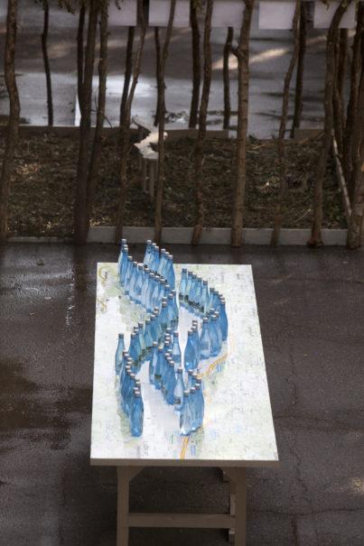 Hannes Zebedin; Kunstinstallation für lendspiel 2014; Foto: Gerhard Maurer.