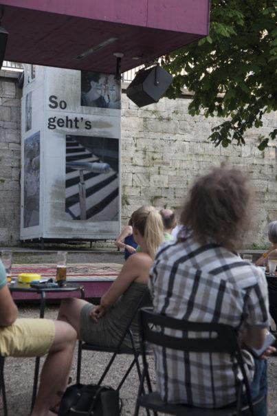 The first thing I did this summer, Kunstprojekt von Sasha Kurmaz, Lendspiel 2016, kuratiert von Nora Leitgeb und Claudia Isep, Foto: Gerhard Maurer.