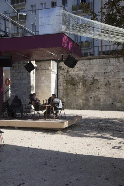 Port im Sturm, Kunstprojekt von Mara Marxt Lewis und Tyler Lewis, Lendspiel 2018, kuratiert von Claudia Isep, Technische Leitung: Hanno Kautz, Foto: Gerhard Maurer.