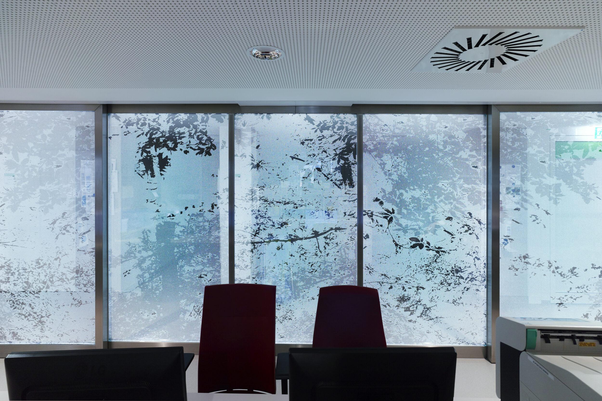 Inge Vavra, Kunst am Bau, LKH Wolfsberg, Licht- und Farbgestaltung des intensivmedizinischen Bereichs, Austria / Kärnten / Wolfsberg, 2016, Foto: Johannes Puch